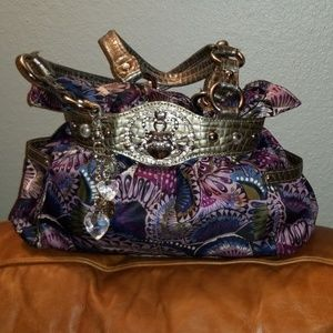 Kathy Van Zeeland double strap shoulder bag/purse
